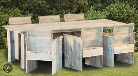 Tuinset grey yourself bouwpakket 6 for Bouwpakket steigerhout