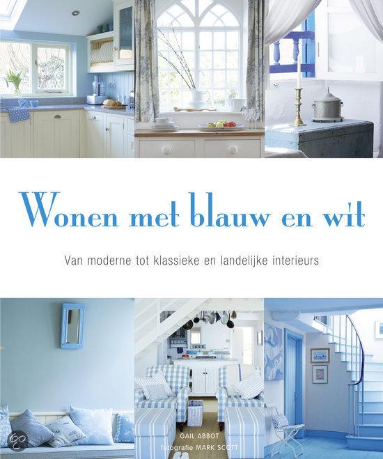 Wonen Met Blauw En Wit