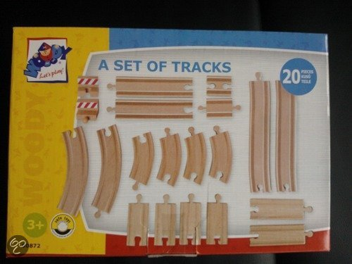 Woody 20 dlg. Set treinrails