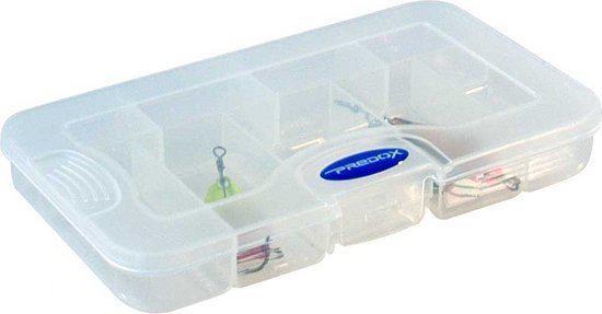 Predox T&G Tainer - Tacklebox - 16.5 x 9 x 2.5 cm - Transparant
