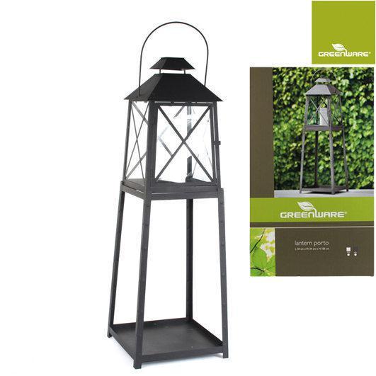 bol.com : Greenware - Lantaarn Porto op voet - 34x34x105 cm - Zwart