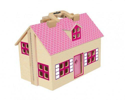 Poppenhuis hout woody toys speelgoed for Poppenhuis hout