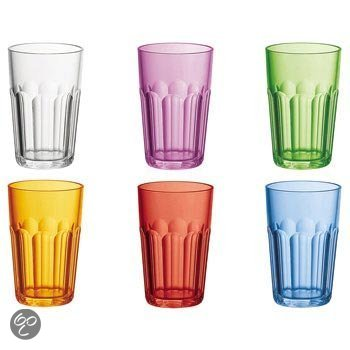 Guzzini Drinkbeker Set van 6 - Gekleurd