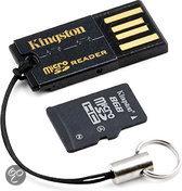 Kingston micro SDHC-kaart 8 GB met USB-Reader