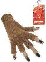Vingerloze handschoen bruin