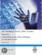 Der Windows Server 2003 Trainer - Security