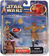 Star Wars Speelgoed: Mace Windu with Blast-Apart Battle Droid (red)