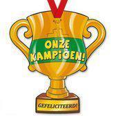 Trofee met lint - Trophy - kampioen