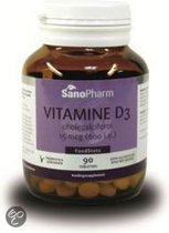 SanoPharm Vitamine D3 15 µ - 600 IE - 90 Tabletten - Vitaminen