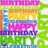 IHR Birthday Party Servetten - 16.5 x 16.5 cm -16.5 x 16.5 cm