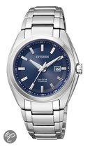 Citizen Super Titanium - Polshorloge - Titanium - 34 mm - Zilverkleurig / Blauw - Solar uurwerk