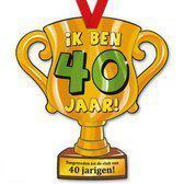 Trofee met lint - Trophy - 40 jaar