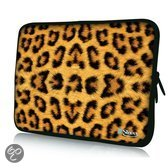 Sleevy 11,6 inch laptophoes macbookhoes luipaardprint