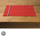 In the Mood Storm Placemat - 33 x 45 cm - 4 stuks - Rood