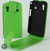 Faux Flip case hoesje Samsung S5830 S5830i S5839i Galaxy Ace groen