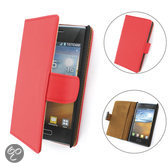 TCC Luxe Hoesje LG G2 Book Case Flip Cover - Rood