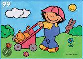 Puzzel Noa met haar wagen
