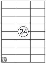 Benza Zelfklevende Etiketten op A4 Vel - 70 x 37 mm - 24 stickers per vel - 25 vel