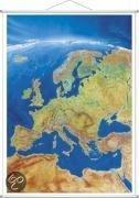 Europa Panorama.  Wandkarte mit Metalleiste