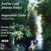 Josefine Lang, Johanna Kinkel: Ausgewahlte Lieder