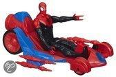 Spider-Man Figuur met Raceauto - 30 cm