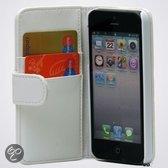 iPhone 5 leather wallet kleur wit
