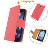 TCC Luxe Hoesje Samsung Galaxy S3 Book Case Flip Cover i9300 - Rood