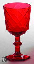 Baci Milano So Chic Wijnglas - Rood - Set van 6 stuks
