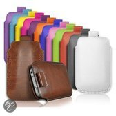 iPhone 5 leather case with strap zwart
