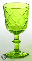 Baci Milano So Chic Wijnglas - Lime - Set van 6 stuks