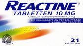 Reactine Antihistaminicum 10 mg - 21 tabletten