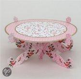 Baci Milano Candies Taartplateau - Papier - Op Voet - 26 cm - Roze