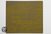 Modern Twist Grain Placemat - 40 x 35 cm - Mustard on Grey
