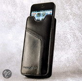 Ten97 Leather Pouch, Echt Lederen iPhone 5 & 4 Sleeve, Zwart