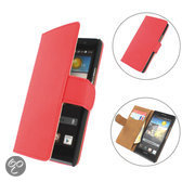 TCC Luxe Hoesje Huawei Ascend Y511 Book Case Flip Cover - rood