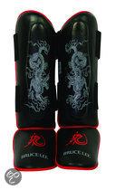 Bruce Lee Dragon Scheenbeschermers - Leer - S/M