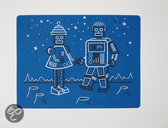 Modern Twist Mark Matz Robot Love Placemat - 40 x 32 cm - Blauw