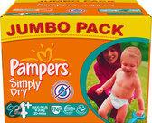 Pampers Simply Dry - Luiers Maat 4+ - Jumbo Pack 74st