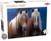 Twee Paarden - Legpuzzel - 1000 Stukjes