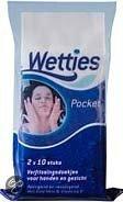 Wetties Verfrissingsdoekjes Pocket Verpakking