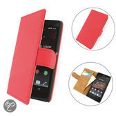 TCC Luxe Hoesje Sony Xperia C Book Case Flip Cover C2305 - rood