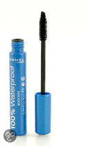 Rimmel London 100% Waterproof - 001 Black  - Zwart - Mascara