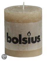 Bolsius Stompkaars 80/68 rustiek Pastelbeige (per 6 stuks)