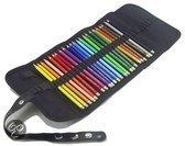 Roletui leeg voor 36 potloden zwart
