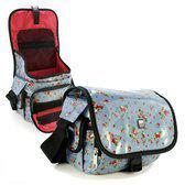 Tuff-luv rockabetty DSLR camera case hipster - blauw