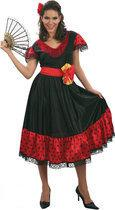 Luxe Flamenco Danseres - Kostuum - Maat M - Zwart
