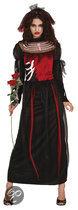 Halloween Superluxe Vlammende Bruid - Kostuum - Maat M - Zwart