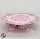 Baci Milano Candies Taartplateau - Papier - Op Voet - 32 cm - Roze