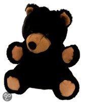 Pluche handpop zwarte beer