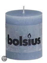 Bolsius Stompkaars 80/68 rustiek IJsblauw (per 6 stuks)